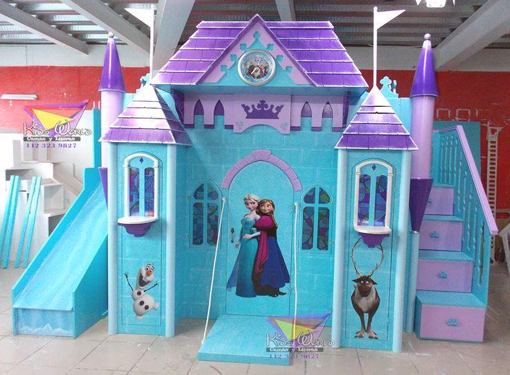 kidsworld.2000@yahoo.com.mx  01442 690 48 41 Y WHATSAPP 442 323 98 27... PRECIOSO CASTILLO DE FROZEN #castillos #castillo #frozen #ana #elsa #libresoy #camasyliterasinfantileskidsworld #kidsworld #recamarastematicas #recamarasdeprincesas #mueblesparaniñas #literasparaniñas #olaf #sben #azul #morado #escaleradecajones #coposdenieve #resbaladilla #torres #puente #hielo #thequeenelsa #reinaelsa #vitrales #mueblesenqueretaro #hogar #diseño #decoración #niñas #princesas #nieve #frío #carpinteria