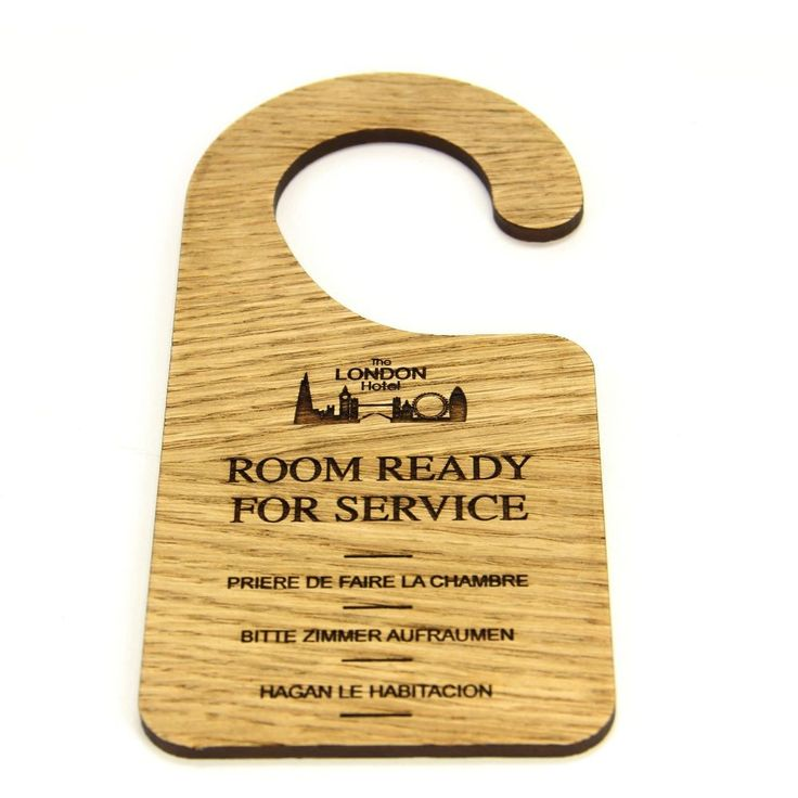 Oak Veneer Wooden Do Not Disturb Door Hook Hangers