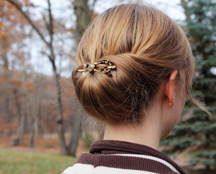 This is one of my Favorite hairstyles -- the classic Gibson Tuck.  This hairstyle looks fabulous when secured with a flexi-clip from Lilla Rose! Click here to enter to win your own flexi-clip!