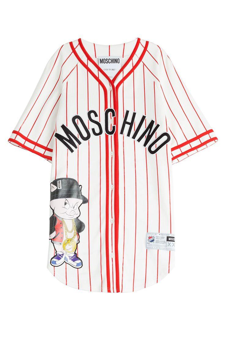 BASEBALL JERSEY T-SHIRT DRESS GR. IT 38 MOSCHINO
