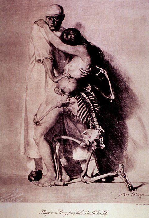 Der Arzt, Das Mädchen, Und Der Tod(The Doctor, The Girl,AndDeath) by Ivo Saliger, 1920.
