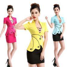3 Mulheres XXXL Desgaste Do Trabalhador Profissional Senhoras Saia Blazer Define Feminino Escritório de Negócios Formal Ternos Uniforme Projeta Jaqueta Saia(China (Mainland))