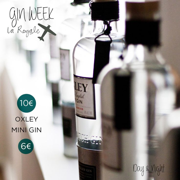 """Esta semana en La Royale celebramos la """"Gin Week"""" de la mano de Oxley Gin. Una semana en la que podrás disfrutar de nuestros Gin Tonics Premium de #Oxley a 10€ y mini Gin Tonics a 6€.  #LaRoyale #PacoPérez #Barcelona #GinWeek"""