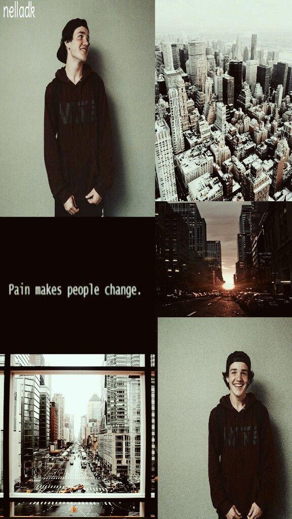 ¤Pain makes people change.¤ I love him. Aaron Carpenter lockscreen.❣