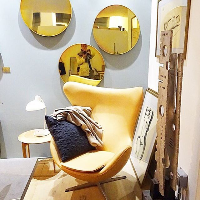 """More from Republic of #fritzhansen .... A true classic also known as the """"Eggchair"""" . I like the blonde look of this!"""