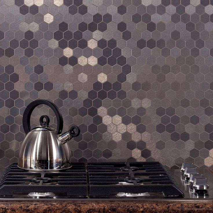 Aspect 12x4-inch Honeycomb Stainless Matted Metal Tile (3-pack), Get the look of a high-end, designer kitchen at a fraction of the cost with matted aspect.