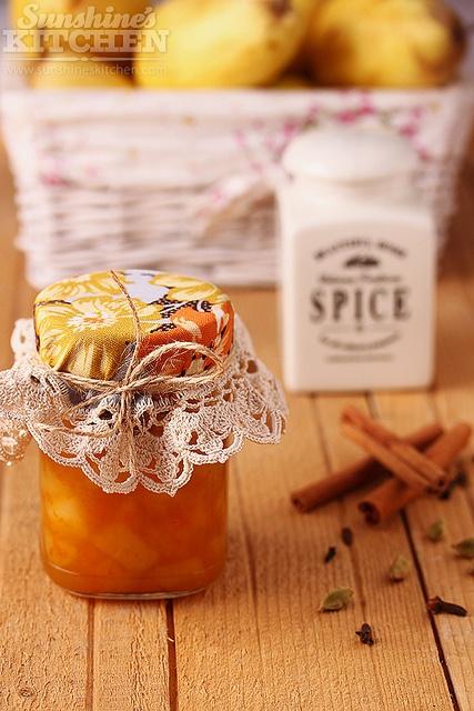 spicy pear & orange jam