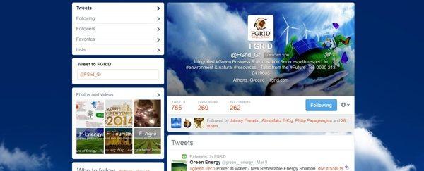 FGRID twitter account on Behance