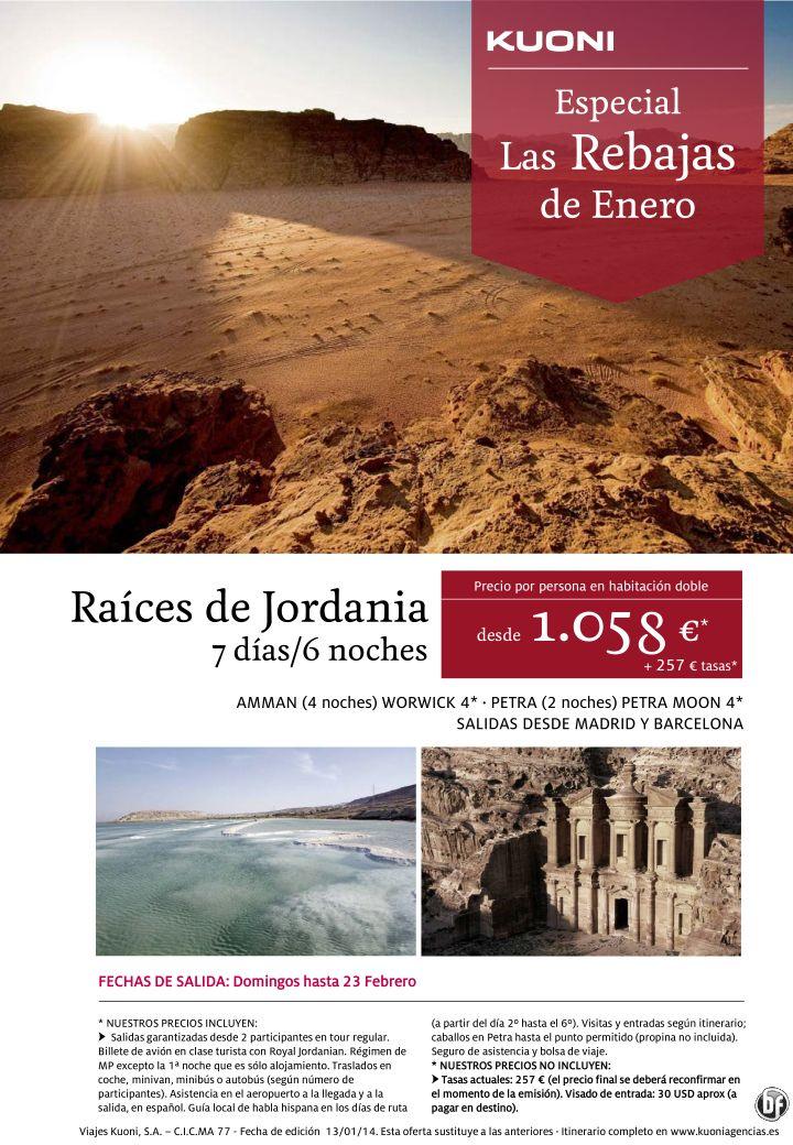 Las Rebajas de Enero - Raíces de Jordania 7 días/6 noches desde 1.058 € + tasas ultimo minuto - http://zocotours.com/las-rebajas-de-enero-raices-de-jordania-7-dias6-noches-desde-1-058-e-tasas-ultimo-minuto/