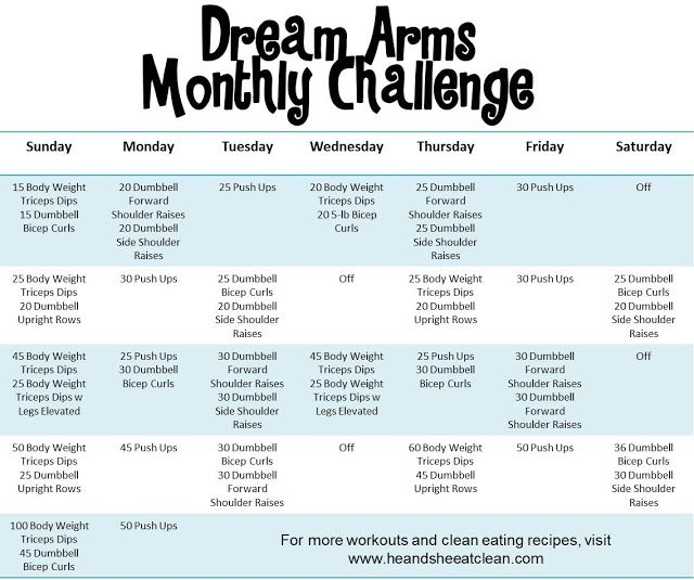 Who's up for a month long challenge? Try out this upper body workout to get you those dream arms you've always wanted!