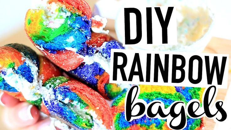DIY Rainbow Bagels! How To Make A Rainbow Bagel!