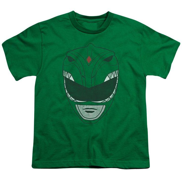 Power Rangers T-Shirt Green Ranger Mask Shirt