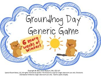 Groundhog Day: Generic Game FREEBIE The generic game is perfect for speech and language intervention, reading centers or other activities. The generic game is perfect for speech and language intervention, reading centers or other activities.
