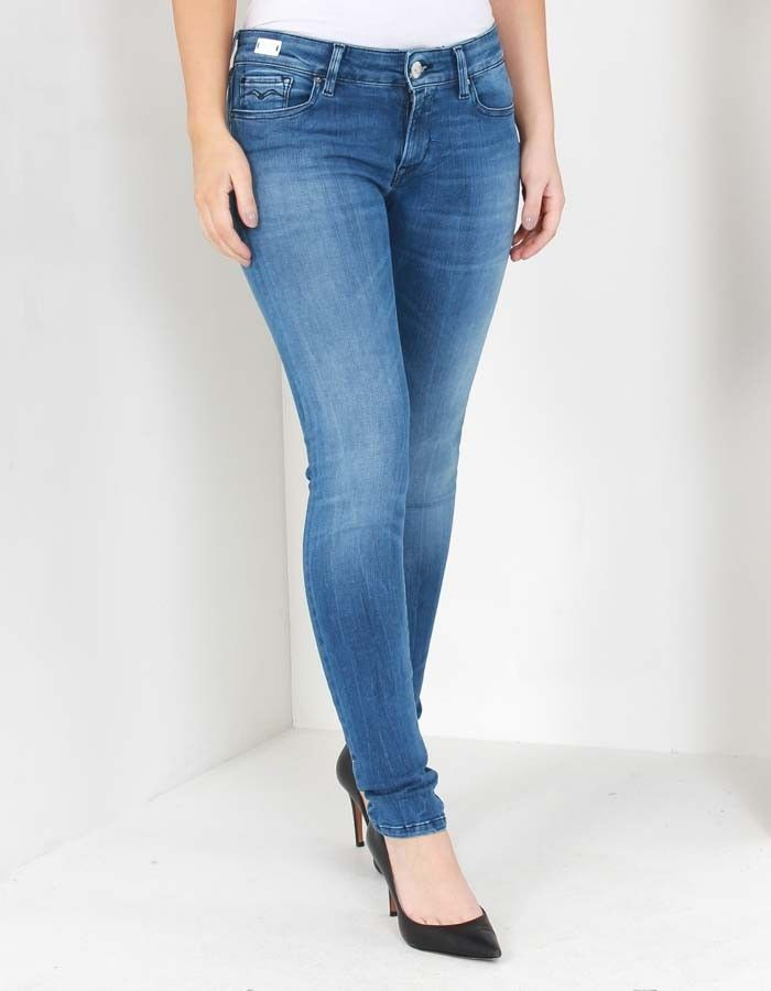 Replay Mid Wash Luz Hyperflex Jeans | Accent Clothing