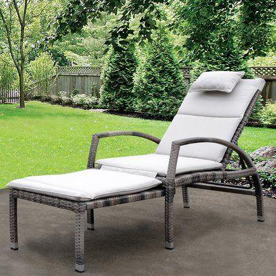 Mauricio Chaise Lounge with Cushion Finish: Taupe - http://delanico.com/chaise-lounges/mauricio-chaise-lounge-with-cushion-finish-taupe-725175706/