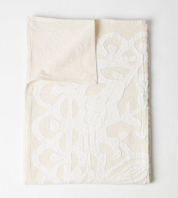 Queen Bed Cover in Applique Schmetterling weiß von gypsya auf Etsy, $138.00