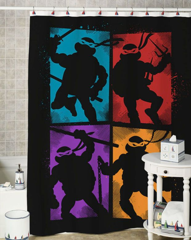 teenage mutant ninja turtles special shower curtains that will make your bathroom adorable.