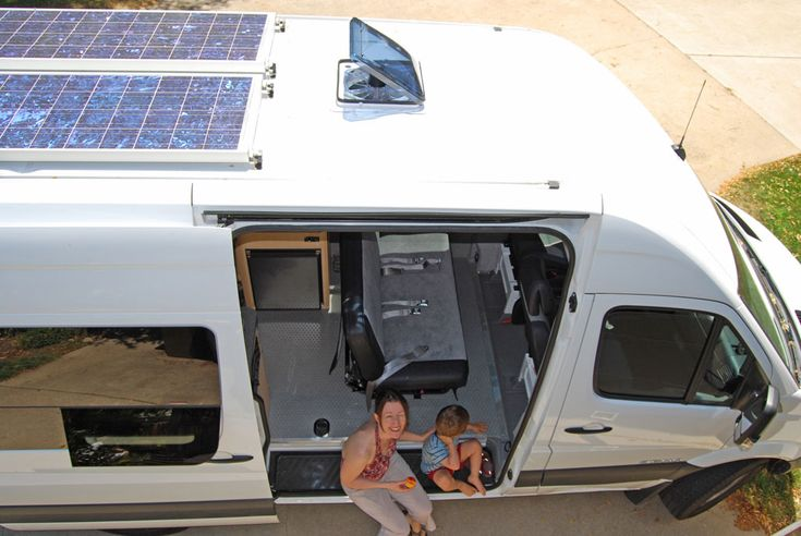 this sprinter custom camper features solar panels on top to power it 39 s battery we love this. Black Bedroom Furniture Sets. Home Design Ideas