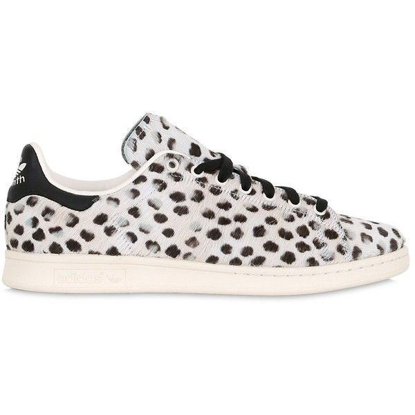 Adidas Originals Men Stan Smith Printed Ponyskin Sneakers (€160) ❤ liked on Polyvore featuring men's fashion, men's shoes and men's sneakers
