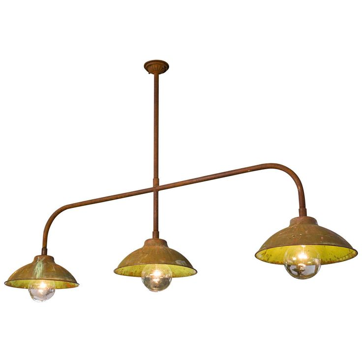 Industrial Kitchen Island Light Of Copper And Iron