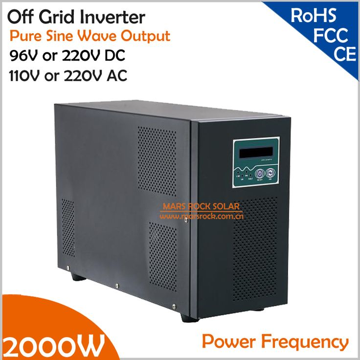 Power Frequency 2000W 96V or 220V DC to AC 110V or 220V Pure Sine Wave Off Grid Inverter with City Grid Charge Function #Affiliate