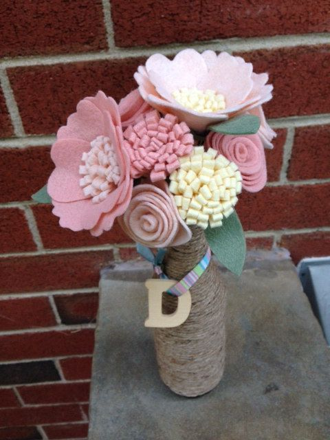 Felt Flower Bunch: Custom Mix by PromisePetals on Etsy