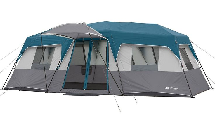 """20' x 10' x 80"""" 12-Person Instant Cabin Family Tent 3-Room Layout with 2 Removable Room Dividers"""