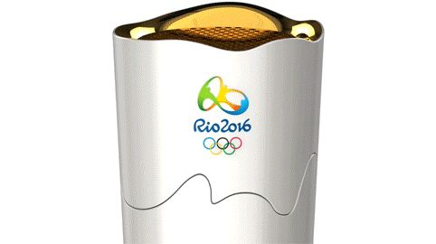 Redesigned Olympic torch for Brazil  Math: distance traveled by each torch bearer