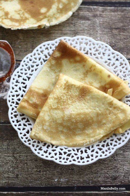 How to make basic crepes - this recipe is a good choice for just about any sweet or savory filling. | www.ManilaBelly.com