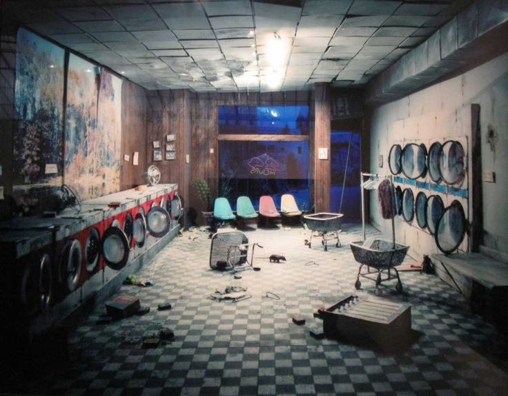 abandoned Laundromat at Night 2008 Laurie Nix
