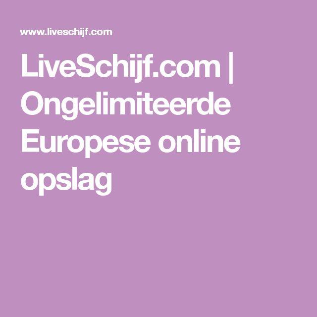 LiveSchijf.com | Ongelimiteerde Europese online opslag