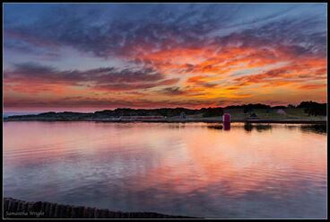 Jeffreys Bay sunset by Samantha