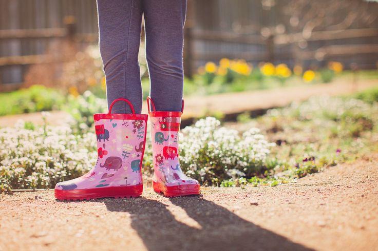 stivali da pioggia in gomma 100% con elefanti e cuori bambino