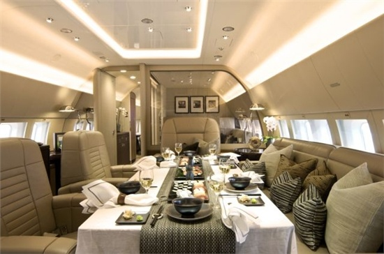 Inside a Boeing Business Jet
