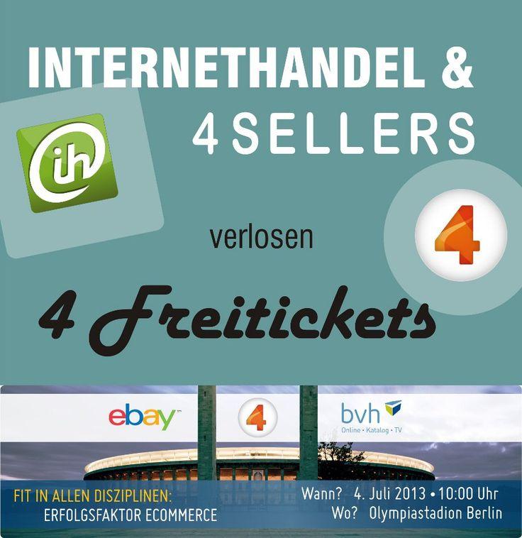 Gewinnspiel - INTERNETHANDEL verlost 4 Freitickets für 4SELLERS Event in Berlin