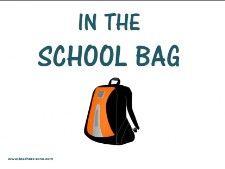 SCHOOL BAG - Teacher's Zone