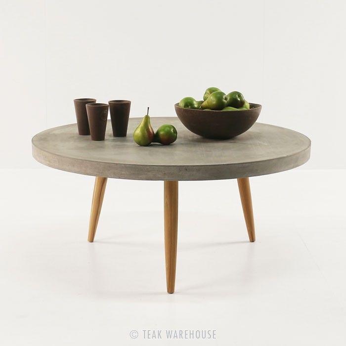 Aspen Blok Concrete Round Coffee Tables - Concrete - Materials