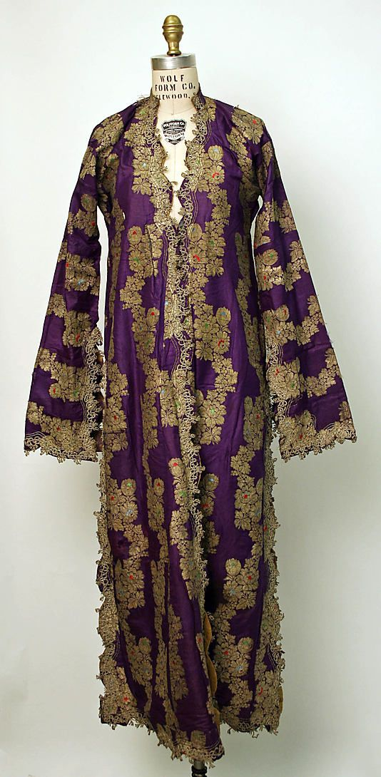 turkish silk robe • late 19th Century • stay with us at www.istanbulplace.com holiday apartments and visit Topkapi Palace Museum to see more of these for real
