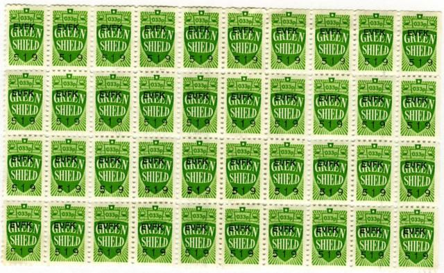 Green Shield Stamps were a widely used sales promotion and loyalty scheme The stmaps could be collected when puchases were made and exchanged for goods. Green Shield Trading Stamp Company was founded in 1958 by entrepreneur Richard Tompkins, and the stamps were withdrawn in 1991.