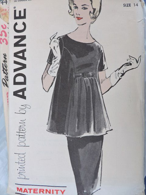 SeeSallySew.com - Classic Fashion Maternity Two Piece Dress Advance 9933 Pattern Sz. 14 , $10.00 (http://stores.seesallysew.com/classic-fashion-maternity-two-piece-dress-advance-9933-pattern-sz-14/)