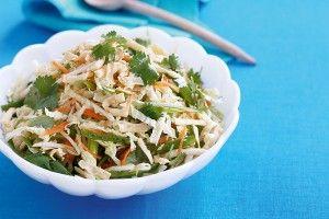 Asian 'slaw with crispy noodles