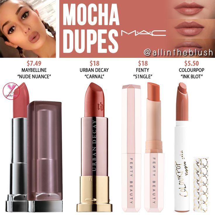MAC Mocha Lipstick Dupes
