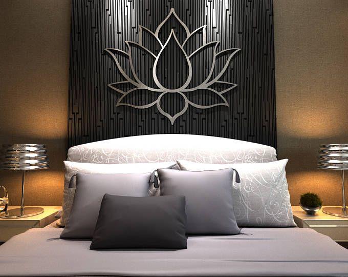 arte de pared de metal la flor loto xl escultura arte de la