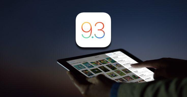O iOS 9.3 finalmente está disponível paraiPhones e iPads!Após várias semanas de testes comdesenvolvedores e usuários inscritos em programas Beta, a Apple finalmente liberouoiOS 9.3par...
