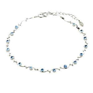 Pugster March Birthstone Round Ankle Bracelet Anklet Swarovski Crystal Lobster Clasp Pugster. $19.99. Money-back Satisfaction Guarantee; The perfect accessory for evening or day wear; Free Gift Box; 9 Inch to 10 inch Length Adjustable Anklet; Made with Swarovski Elements