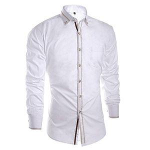 Camisa hombre manga larga,camisas hombre blanco,camisa de hombre