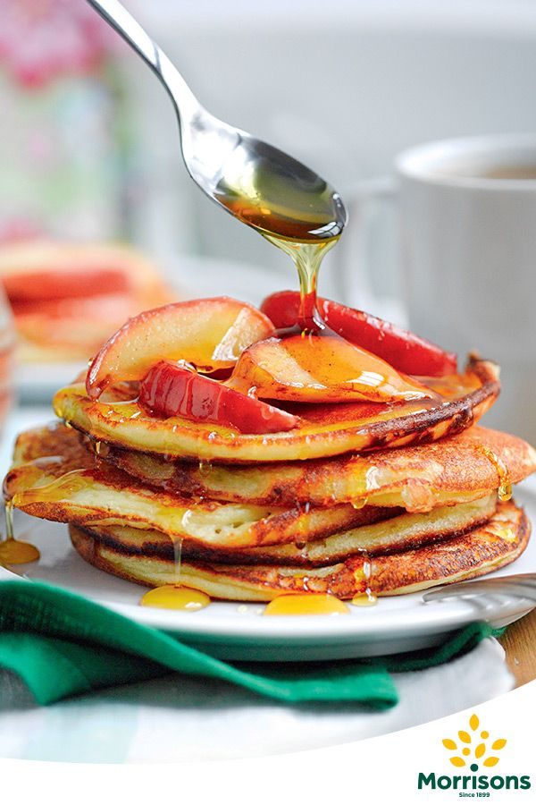 Buttermilk Pancakes with Apple, Cinnamon and Golden Syrup