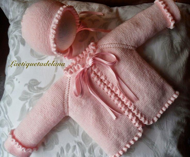 şapkalı pembe bebek hırkası