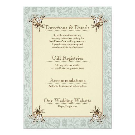 1900s Vintage Wedding Invitation Enclosure Cards 2