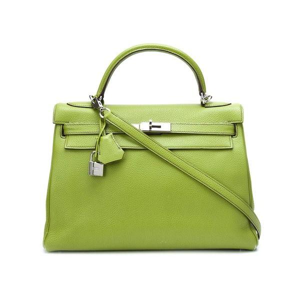 Hermès Vintage 'Retourne Kelly 32' Handtasche, Damen, GröBe: EinheitsgröBe, Grün, Kalbsleder